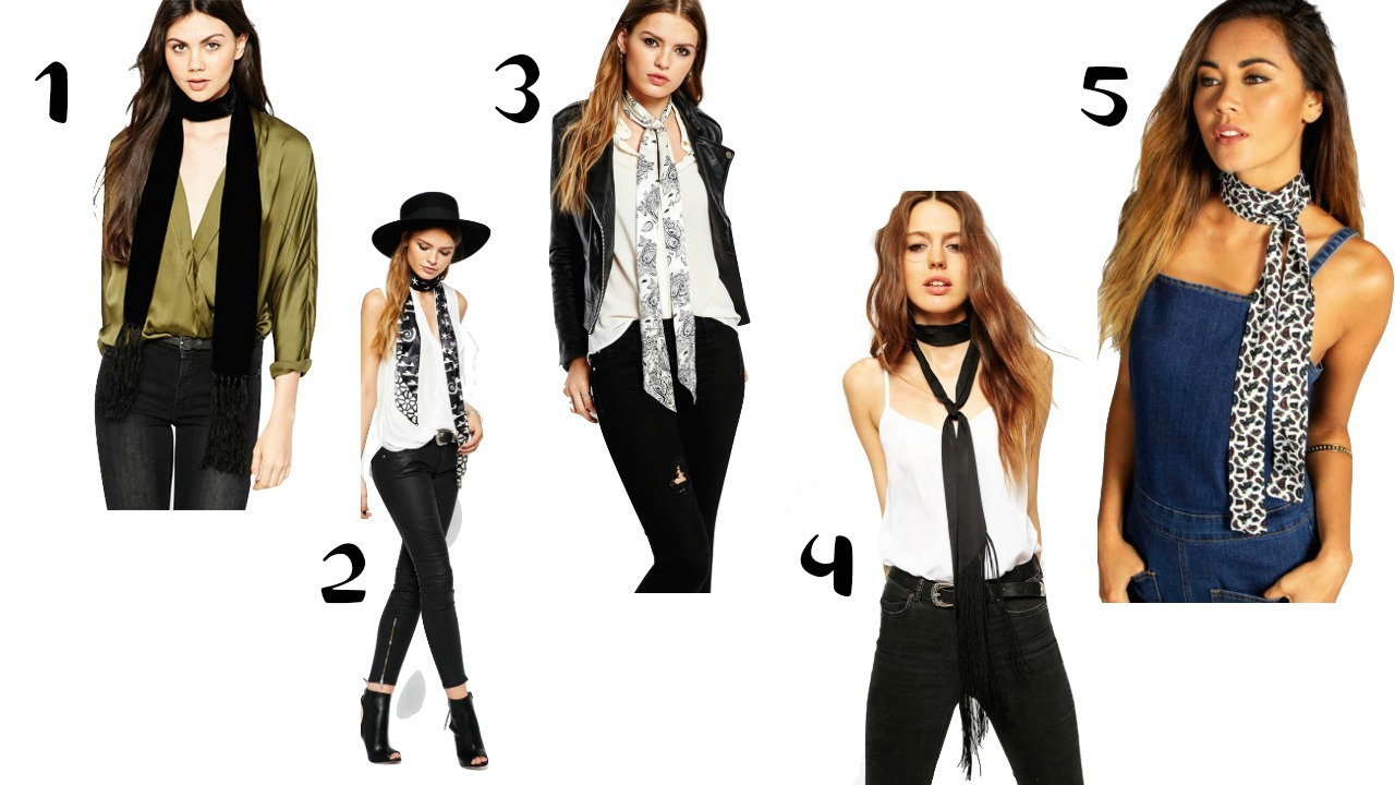 how to wear the skinny scarf