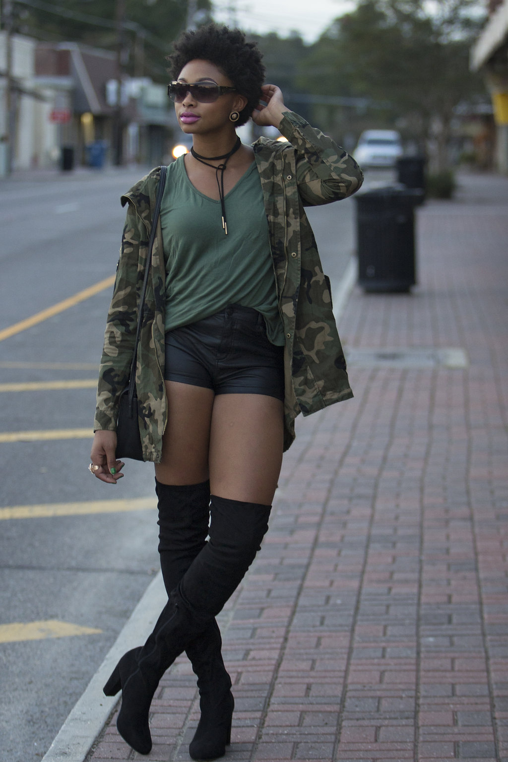 how to wear shorts with over the knee boots